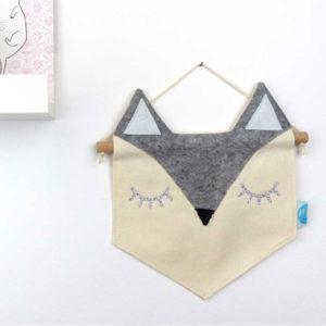 fanion-renard-gris